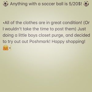 Other - ⚽️ Anything with a soccer ball is 5/20$! ⚽️